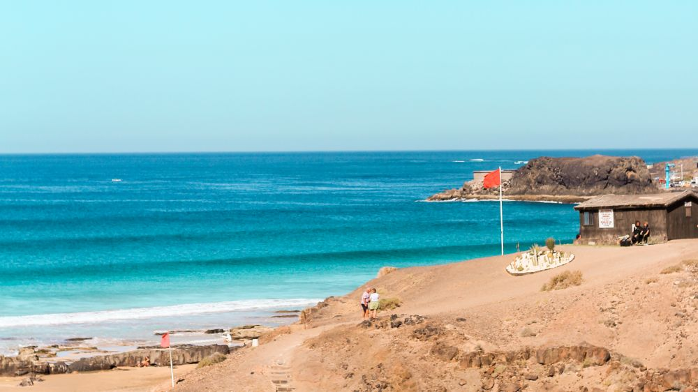 Surfing on Fuerteventura in Spring